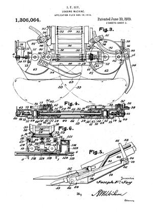 Henry harnischfeger wikivisually joseph francis joy a patent office image of joys loading machine fandeluxe Images