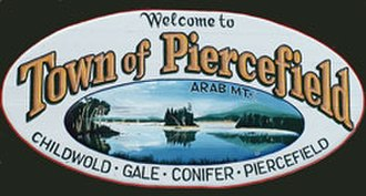 Piercefield, New York - Town of Piercefield sign