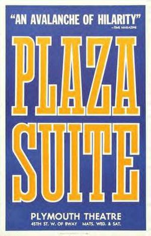 Plaza Suite - Broadway poster