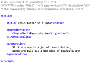 RecipeBook_XML_Example from their website and ...