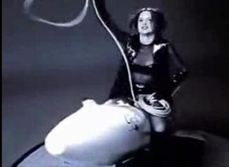 Serious Fun (The Knack album) - The bomb-riding and lasso-waving scene from the 'Rocket O' Love' music video