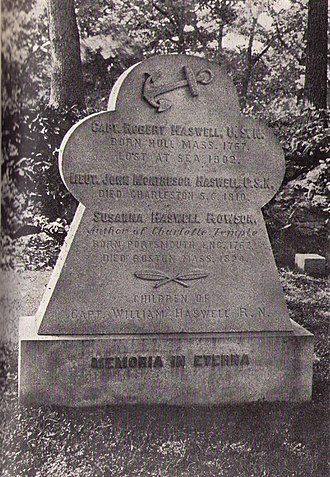 Robert Haswell - Rowson/Haswell memorial, Forest Hills Cemetery