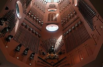 Royal Armouries - The Hall of Steel in the Royal Armouries in Leeds