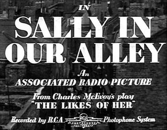 Sally in Our Alley (1931 film) - Image: Sally in Our Alley (1931 film)