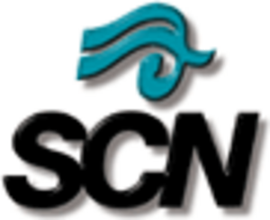 City Saskatchewan - SCN's first logo, used from 1991 to the late 1990s.