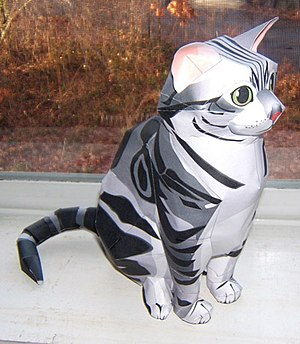 Paper model - Example of a cat papercraft