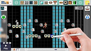 Super Mario Maker - Image: Super mario maker level creator interface