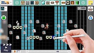 Super Mario Maker - Image: Super mario maker level creator interface