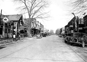 Syracuse, Indiana - Main Street looking west cir. 1930s