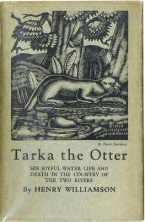Tarka the Otter - First edition; woodcut after Hester Sainsbury