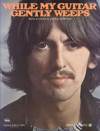 While My Guitar Gently Weeps - Image: The Beatles' While My Guitar Gently Weeps sheet music cover