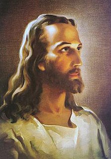 <i>Head of Christ</i> 1940 portrait painting of Jesus of Nazareth by American artist Warner Sallman
