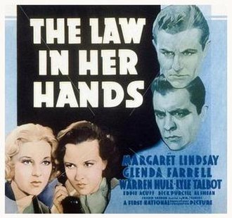 The Law in Her Hands - Movie poster