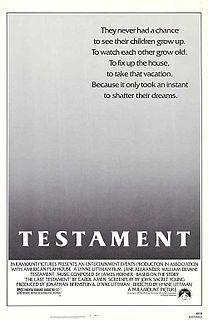 <i>Testament</i> (1983 film) 1983 film by Lynne Littman