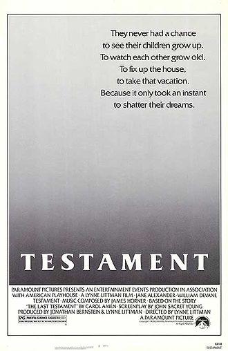 Testament (1983 film) - Movie Poster
