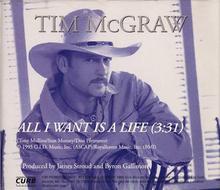 Tim McGraw - A Life cd single.png