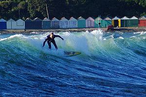 Titahi Bay - Surfing at Titahi Bay Credit: P J Armitage