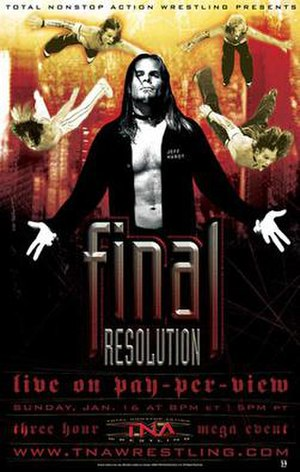 Final Resolution (2005) - Promotional poster featuring Jeff Hardy