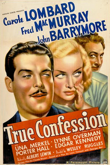 True Confession- 1937 Poster.png