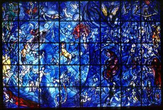United Nations Art Collection - Peace, a stained-glass window by Marc Chagall