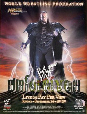 Unforgiven (1999) - Promotional poster featuring The Undertaker