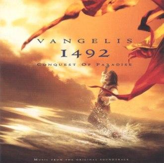 1492: Conquest of Paradise (album) - Image: Vangelis 1492 Conquest of Paradise (alternate cover)