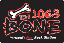 Logo as 106.3 The Bone,  used from October 2, 2008 until December 1 ...