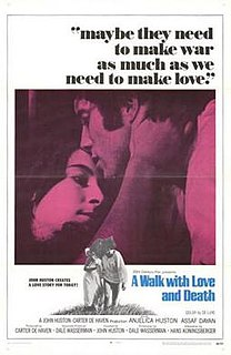<i>A Walk with Love and Death</i> 1969 film directed by John Huston