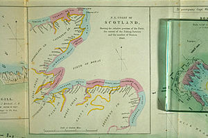 Moray Firth fishing disaster - A map charting the distribution of fishing boats, from the Washington Report. Wick is the busiest with 543 boats, followed by Fraserburgh.