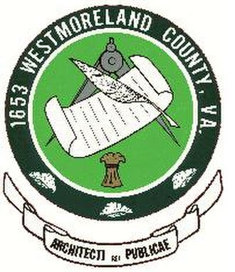 Westmoreland County, Virginia - Image: Westmoreland Seal