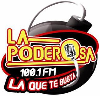 XHOQ-FM - Image: XHOQ La Poderosa 100.1 logo