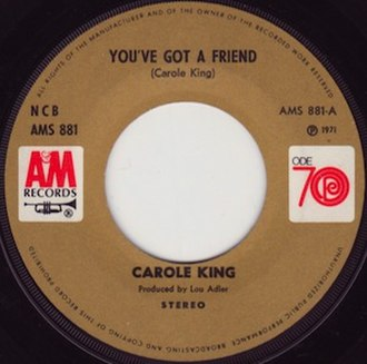 You've Got a Friend - Image: You've Got a Friend Carole King label