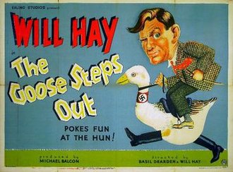 The Goose Steps Out - UK poster by Dudley Pout