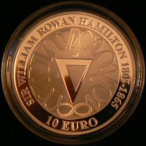 William Rowan Hamilton - Irish commemorative coin celebrating the 200th Anniversary of his birth.