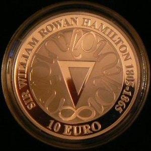 William Rowan Hamilton - Irish commemorative coin celebrating the 200th Anniversary of his birth.