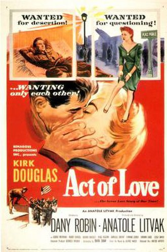 Act of Love (1953 film) - Image: Act of Love Film Poster