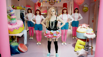 """Hello Kitty (song) - A scene depicting Japanese culture from the music video, which was widely criticized and deemed by some as """"racist"""""""