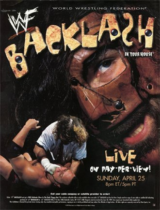 Backlash: In Your House - Promotional poster featuring Mankind and The Rock