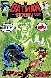 The first appearance of Ra's al Ghul, from Batman #232, June 1971. Cover by Neal Adams.