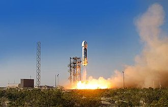 Blue Origin - New Shepard Launch on April 29, 2015.