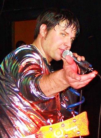 "Brian Teasley - Brian Teasley performing as ""Birdstuff"" with Man or Astro-Man? in 2010."