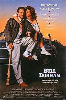 <i>Bull Durham</i> 1988 romantic baseball comedy movie directed by Ron Shelton