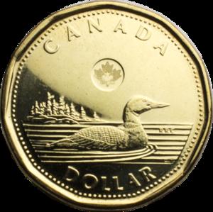 Loonie - Image: Canadian Dollar reverse