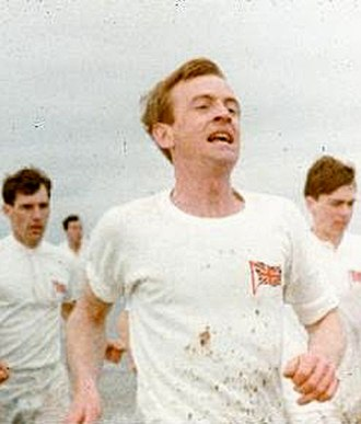 "Chariots of Fire - Ian Charleson (foreground) and Ben Cross (left) running in the ""Chariots of Fire"" music scene which bookends the film."
