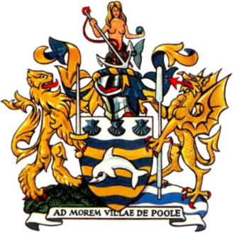 Coat of arms of Poole - The coat of arms of the Poole Borough Council