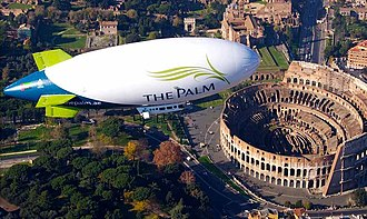 Airship Management Services - The Palm airship over the Coliseum