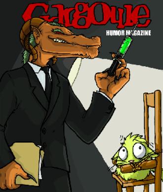 Gargoyle Humor Magazine - Gargoyle Magazine cover by Kris Jacque, December 2003