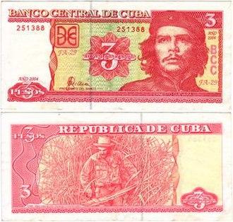 Cuban peso - Image: Cuban 3Pesos