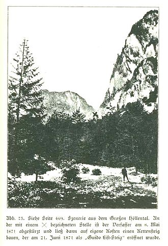 Guido von List - A scenic view of Höllental from List's Deutsch-Mythologische Landschaftsbilder
