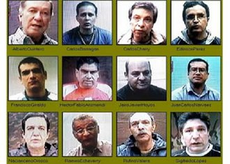 Valle del Cauca Deputies hostage crisis - Victims of the Valle del Cauca deputies hostage crisis, 2007. Sigifredo López (bottom right) was the only survivor.